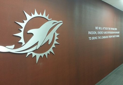 ds234 - Custom Dimensional Signage for Miami Dolphins